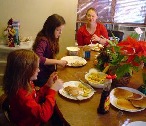 Feeding people during holidays